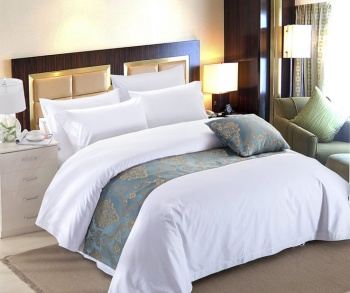 The supply of hotel linen bedding white linen five-star hotel four piece of cotton pillowcase