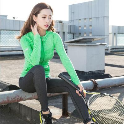 2017 Fitness Yoga Top Female  Quick-Dry Long Sleeve Running Shirt Sportswear Workout Gym Women's t-shirts Sport Jacket