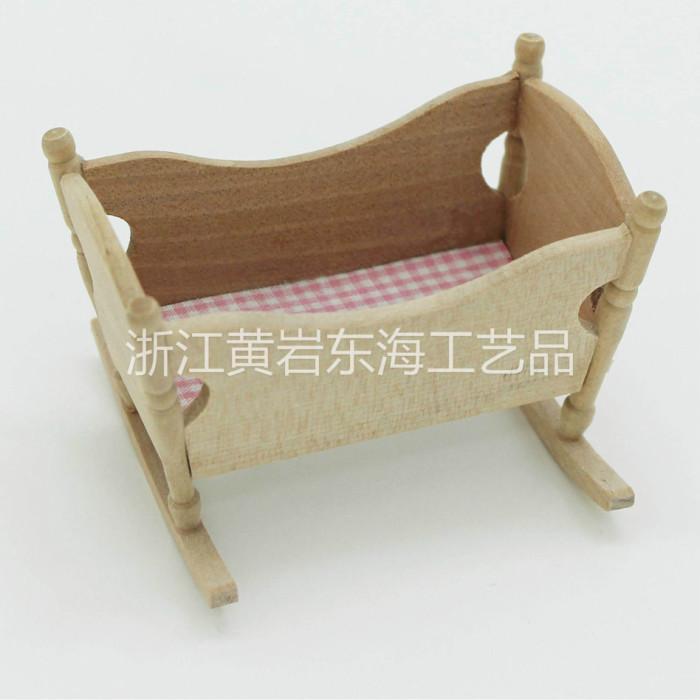 益智幼教迷你小家具 兒童手工課 木制小搖籃diy 木質白胚