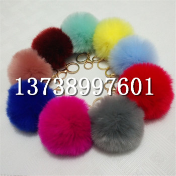 Manufacturers artificial hair ball 8 cm jewelry accessories mobile phone bag pendant imitation wool ball key buckle