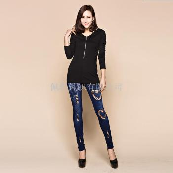 2016 spring and Autumn period of the Korean Style Butterfly printing jeans pants