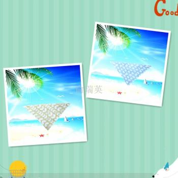 Baby products baby gauze triangle scarf children's scarf.