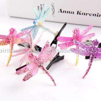 Hot fashion accessories children hair Dragonfly hairpin duckbill clip headwear accessories