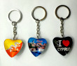 Crystal heart-shaped Keychain
