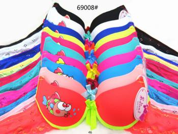New small fish printed bra underwear style 69008 #