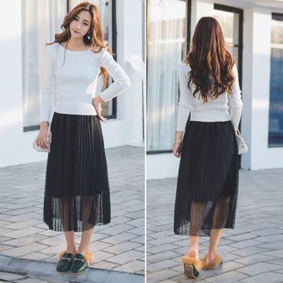 Di Baoli Couture spring summer skirt lace dress pleated skirt dress.