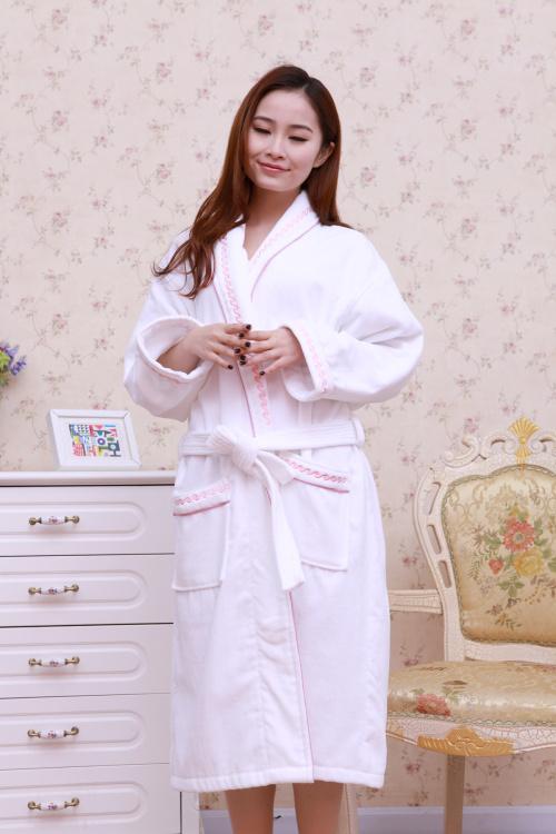 The hotel bathrobe and a cotton Cotton Bathrobe velvet robe