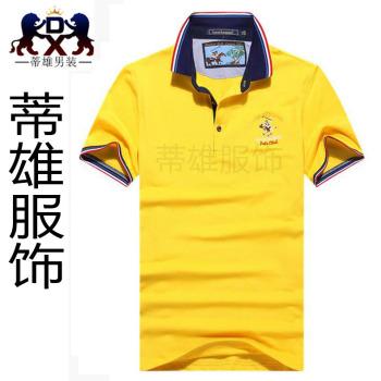 The new men's Lapel cotton T-shirt