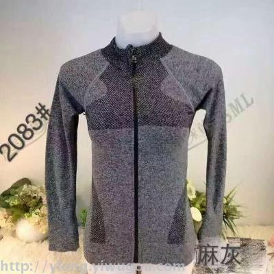 Women 's Jackets Dyed Yarn Yoga Yoga Outdoors Sports Coat Running Fitness Dry - Clothes Sweater