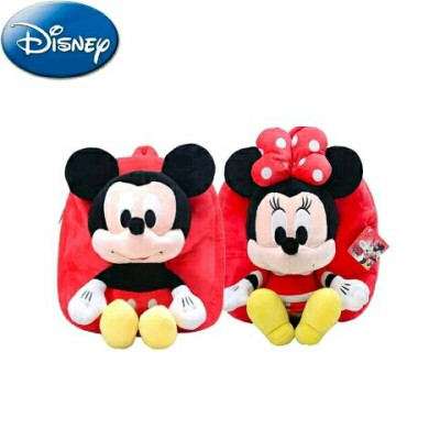 Disney genuine authorized cute cartoon Mickey Mouse Q version of plush children's bag Mickey