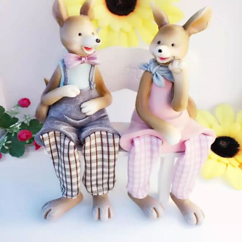 Resin ornaments hanging foot doll home decoration Crafts