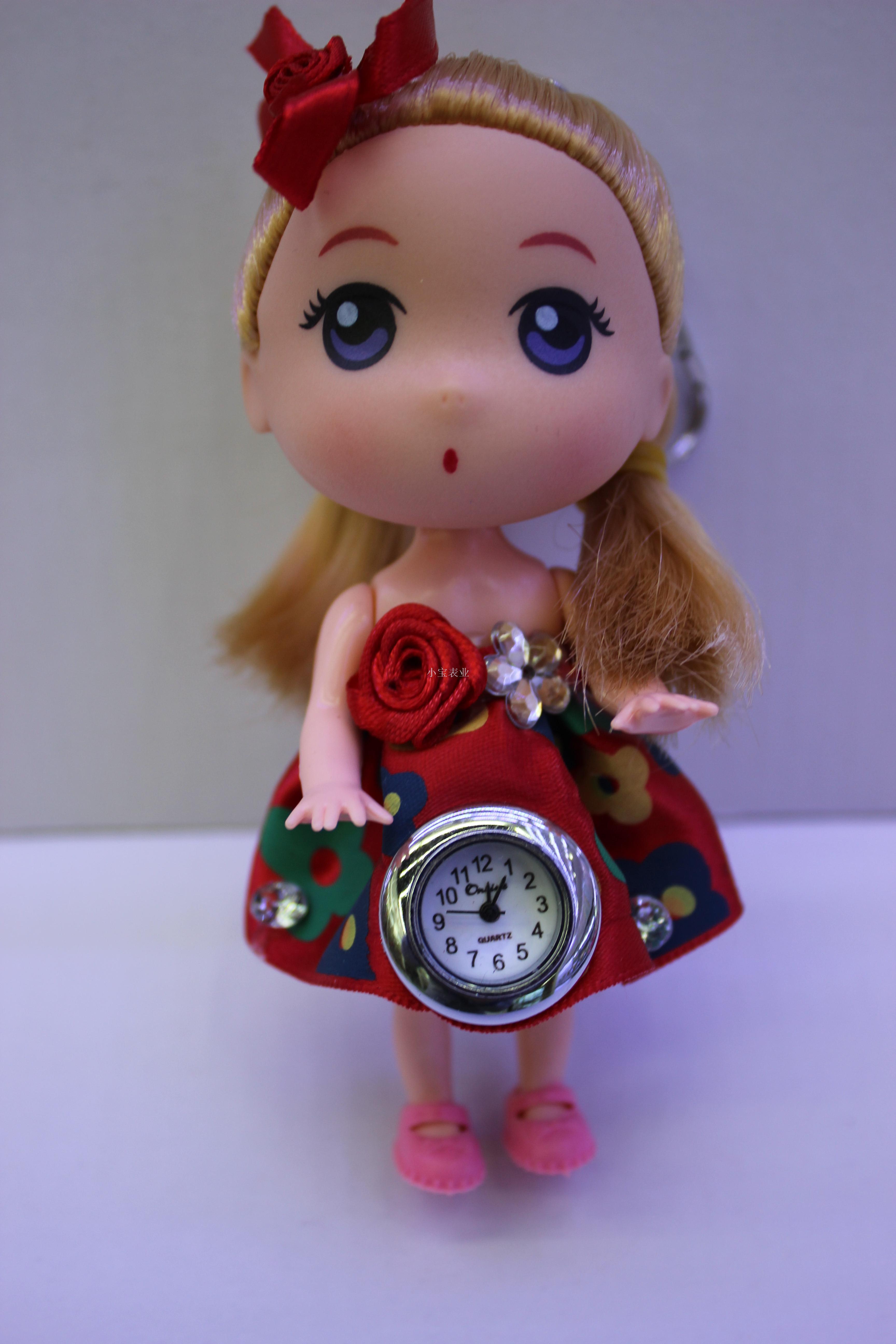 超可爱情人礼物送女生可爱娃娃手表