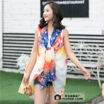 Di Baoli summer sleeveless multifunctional Cape shawl