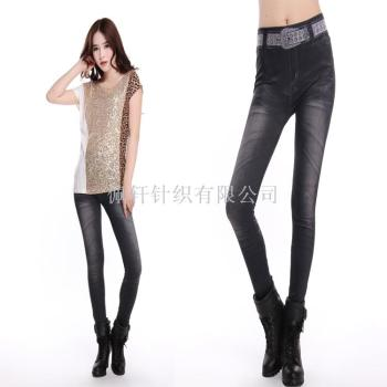 Seamless waist flower imitation jeans to wear underpants nine minutes of pants slim thin playing underwear