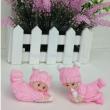Cute baby doll creative lonyer resin ornaments