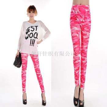 Seamless imitation of foreign trade shoes, jeans, lightning printed Leggings
