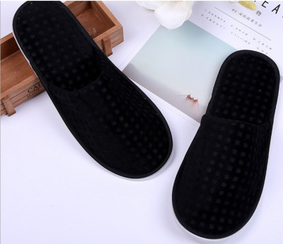 2017 manufacturers direct sale of the black velvet slippers anti-skid high-grade slippers