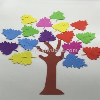 DIY green color kindergarten primary school decoration EVA small tree Festival classroom dress up