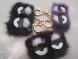 Fur mink mink pendant foreign trade plush eye key buckle
