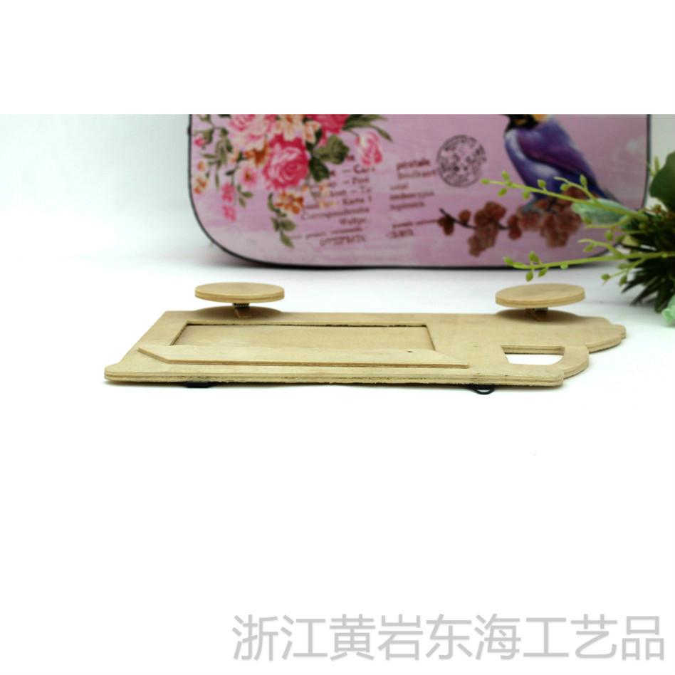 时尚个性创意木制汽车相框 diy设计 木制小汽车相框摆饰白胚