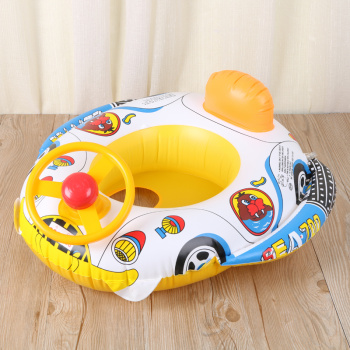 Cartoon children inflatable ring, steering wheel, horn, boat, water toy, swimming ring