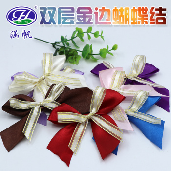 Double ribbon ribbon bow tie clothing shoes accessories toys crafts accessories flower bouquet decoration