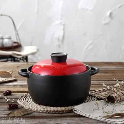 Casserole open fire high temperature ceramic stew pot pot health pot soup pot porridge claypot rice casserole