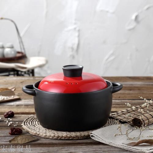 Casserole open fire high temperature ceramic stew pot pot health pot soup pot porridge claypot rice casserole