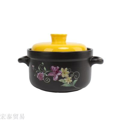 High temperature heat resistant ceramic casserole health soup pot gift gift casserole natural casserole