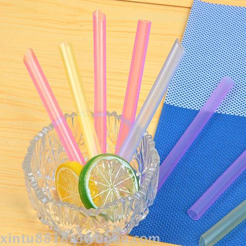 Factory direct disposable can be inserted milk tea straws rough color pearl milk tea drink straw
