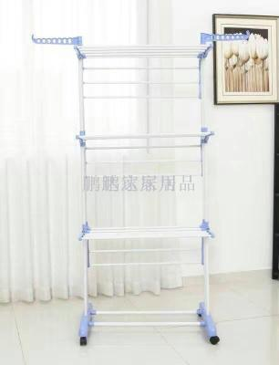 Three layers of stainless steel racks, towel racks can be folded and moved to dry
