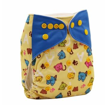 Printed double - buckle diapers baby diapers for baby diapers.