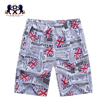 Men's men's casual shorts loose 5 beach pants five