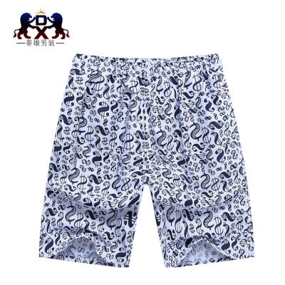 Men's men's casual shorts loose 5 beach pants five