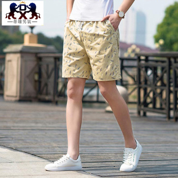 Men 's beach pants cotton casual pants summer deduction pants male male
