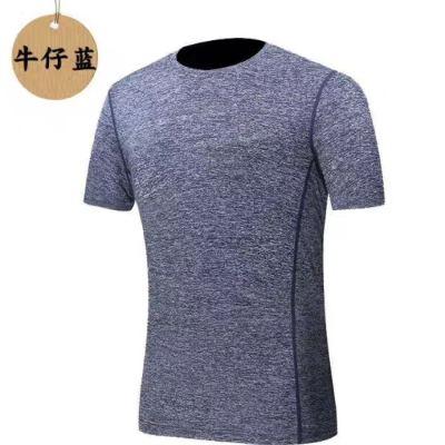 Summer running short - sleeved stretch training shirt fitness fast - drying sportswear men 's short - sleeved T - shirt