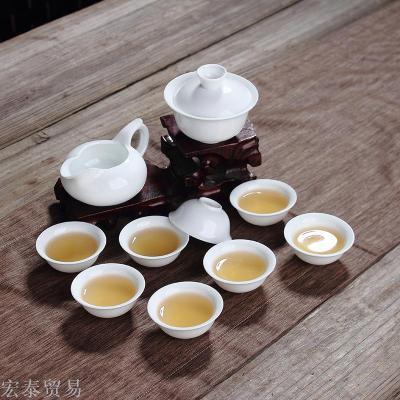 Ceramic high - white porcelain sets of special tea gourd full set of bowl bowl cups gift