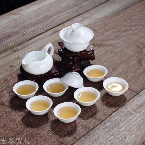 Ceramic high - white porcelain sets of special tea gourd full set of bowl bowl cups gift