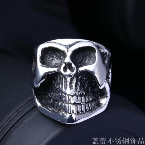 Skeleton Rings Europe and the United States punk domineering men ring male punk titanium steel ring