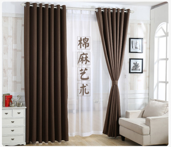 Curtain fabric factory direct rice and linen hotel hotel club special cloth