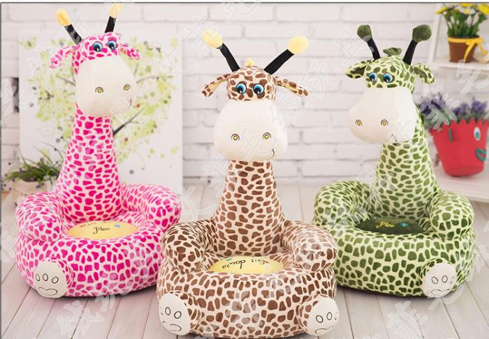毛绒玩具动物座椅长颈鹿沙发儿童卡通沙发子母款榻榻米