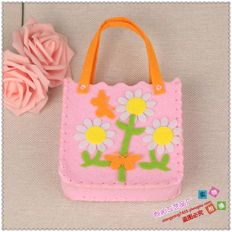 不织布卡通包 儿童手工制作编织材料包