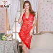 Lace sexy lingerie wholesale women's sense of transparency nightdress adult pure seduction sexy dress