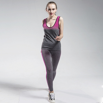 Women Fitness Yoga Set Gym Sports Running Jumpsuits Jogging Dance Tracksuit Breathable Spandex Sportswear Clothes Suit