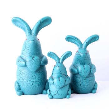 Resin Crafts Blue Rabbit Storage Tank Creative Home Decoration Decoration Child Gift