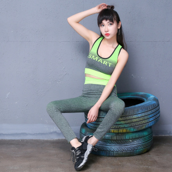 2pcs Women Yoga Clothers Sets Female Running Sportswear Yoga top +Lulu Leggings