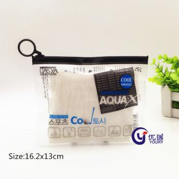 General pvc cuff bag PVC zipper bag custom underwear socks PVC pull ring ziplock bag
