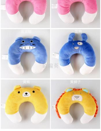 Cartoon plush U - pillow PP cotton nap office double - use neck pillow pillow