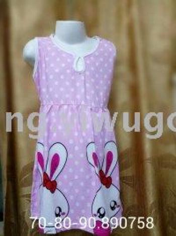 Female big child skirt with belt sleep dress children's home service