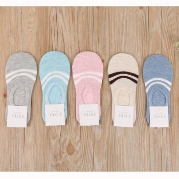 New striped lady socks cotton socks invisible stockings socks